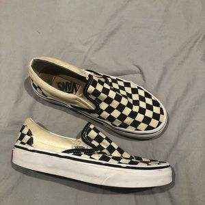 Checkered board vans unisex